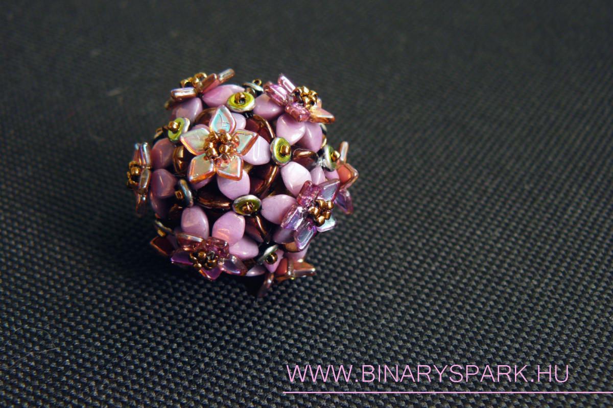 octarine beaded bead gyöngybogyó