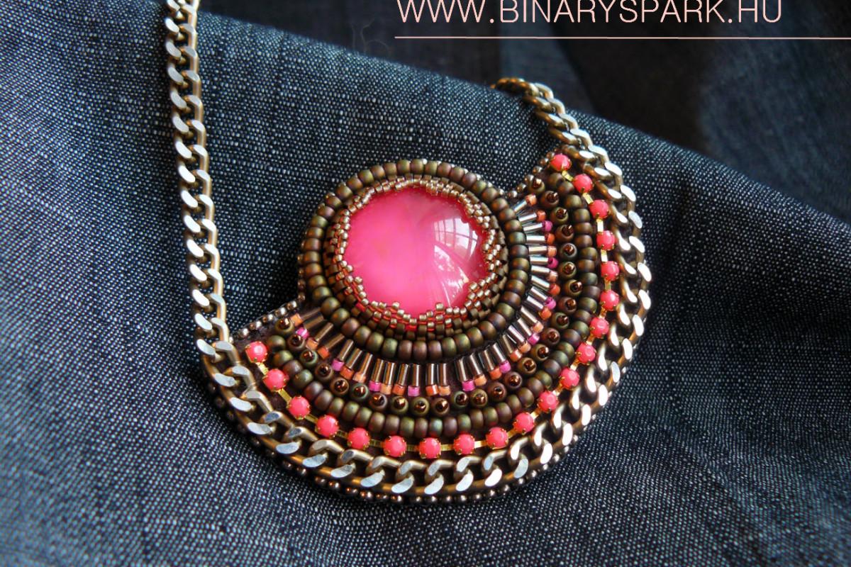 chantico nyaklánc gyöngyhímzés ékszer gyöngy bead embroidery jewelry